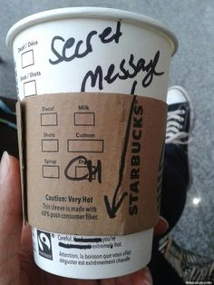 How to flirt thanks to Starbucks? ;-)