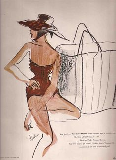 2/2- Illustrations by S.Johns, ca 1949, Clare Potter and Cole of California ad.