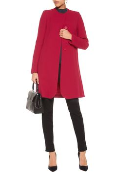 Kate Middleton's Goat Redgrave coat is 50% off at The Outnet in red and purple (she wears it in cream)