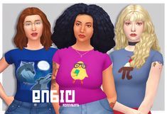 KChan Sims   Basic: Cropped Tees I've made a couple cropped... Image Icon, Header Image, Sims 4 Cc Finds, Sims 4 Clothing, Crop Tee, Swatch, Couples, Tees, Model