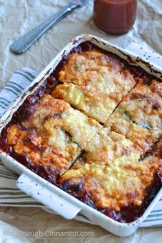 Perfect as a side dish or a meatless main dish, this Eggplant Ricotta Casserole is loaded with cheese and absolutely delicious!