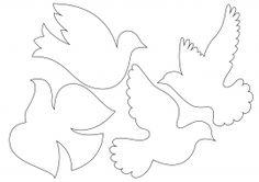 Голуби. Шаблоны для вырезания из бумаги Paper Birds, Felt Birds, Applique Fabric, Hand Applique, Quilling Paper Craft, Paper Crafts, Bead Crafts, Diy And Crafts, Independence Day Activities