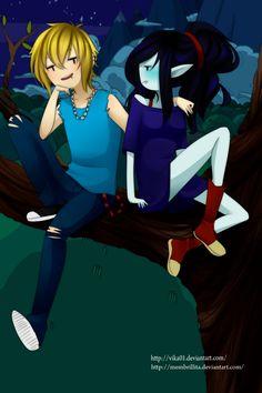 Finnceline kiss by on DeviantArt Adventure Time Cartoon, Adventure Time Characters, Adventure Time Marceline, Adventure Time Finn, Dc Anime, Cartoon As Anime, Cartoon Games, Comic Games, Cartoon Art