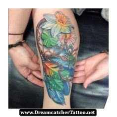 Flower Dreamcatcher Tattoo 18 - http://dreamcatchertattoo.net/flower-dreamcatcher-tattoo-18/