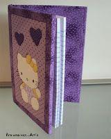 Hello Kitty - Caderno de patch no isopor