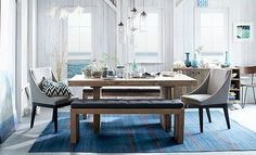 I love the West Elm Sunbleached Blues Dining Room on westelm.com/