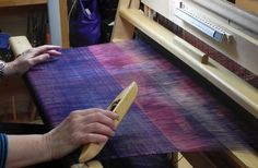 "Weaving for a ""One-of-a-Kind Jacket"" with Mary Sue Fenner at Sievers School. www.sieversschool.com"