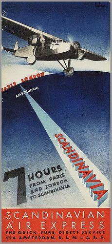 Anders Beckman. Scandinavian Air Express. 1933