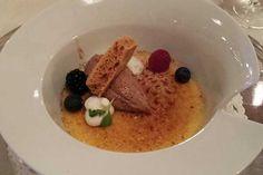 Auch das weiße Pulver schmeckt ... Tolles Dessert im Grand Hotel Toplice in Bled ...