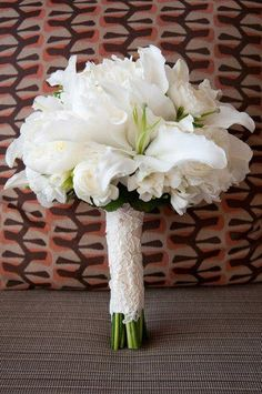 White Lily Wedding Bouquets | lily wedding bouquet add a bit more pink # flowers