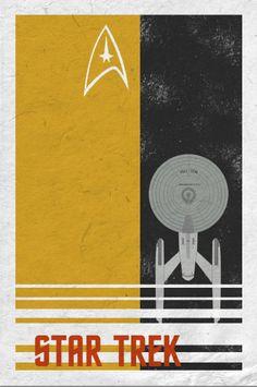 Star Trek retro poster minimalist art movie poster by Harshness