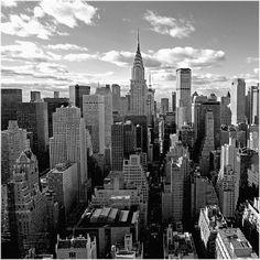 Above Manhattan - Wall Mural & Photo Wallpaper Custom Wallpaper, Photo Wallpaper, Wall Wallpaper, Wallpaper Paste, Manhattan Skyline, New York Cityscape, New York Skyline, New York Canvas, Create Your Own Wallpaper