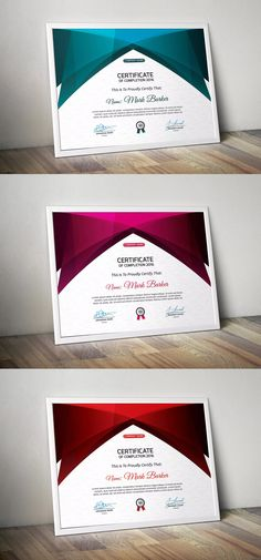 Certificate by curvedesign on Envato Elements Certificate Design, Certificate Templates, Certificate Of Completion, Posters, Graphic Design, Free Printable, Poster, Billboard, Visual Communication