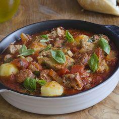 Sauté de porc au chorizo et aux olives