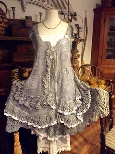 Inspiration! Luv Lucy Crochet Dress Stormy Seas by LuvLucyArtToWear on Etsy, $350.00