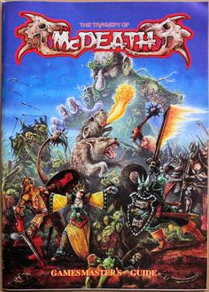 The Tragedy of McDeath, Warhammer Scenario Pack by Richard Halliwell, book cover by John Blanche, Games Workshop, 1986. (via Realm Of Chaos 80s.)
