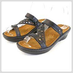 d2af326661ede Naot Damen Schuhe Pantoletten Agile Leder schwarz 14169 Wechselfußbett  Freizeit