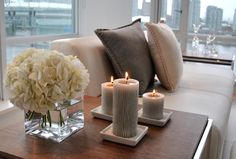 Great side table decor