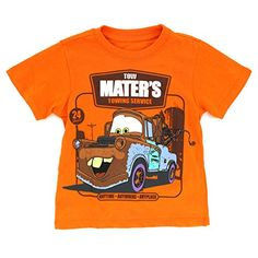 NEW BOYS DISNEY PIXAR CARS ORANGE T-SHIRT SHORT SLEEVED 3D TOP 18 MONTH