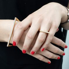 We are loving seeing Jake McCombe Jewellery Fine Shapes on this discerning customer! Match the bangle and ring in the same gold colour and stones or mix it up to suit your mood! All available on www.banneya.com Fine Jewelry, Jewellery, We Are Love, Gold Colour, Stones, Bangles, Suit, Mood, London