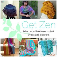 Get Zen and RELAX with 6 of Moogly's favorite free crochet patterns!