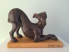 Italian Greyhound Sculpture by Malens Ceramics