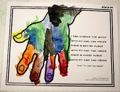 "I like this ""poem"" to use with child's own handprint Preschool Daze hand poem printable for martin luther king jr. day, see https://drive.google.com/a/westwood.k12.ma.us/folderview?id=0BwsveQqcZEvsSnIwODZ2YjNWRUU&usp=sharing for easy readers of this poem I made for k-1 students"