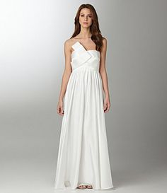 js collection strapless bow gown