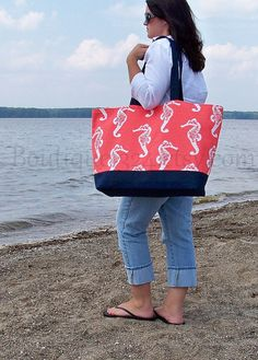 Chevron Beach Bag - Personalized Beach Bag - Monogram Beach Bag ...