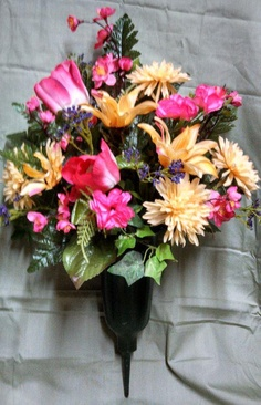 Cemetery vase arrangement flowers for you pinterest vase pink cemetary vase picketfenceflowersandgifts can create this beautiful cemetery arrangement mightylinksfo