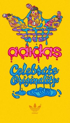 new products 3063d 8fb10 adidas  Celebrate Originality Illustrations Posters, Iphone Wallpaper,  Adidas Design, Graffiti, Skateboard