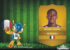 Moussa Sissoko - France Player - FIFA 2014 Argentina Players, Brazil Players, Germany Players, Messi Argentina, Sven Bender, Lars Bender, Cristiano Ronaldo Profile, Lionel Messi, Eduardo Vargas
