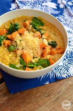 Thermomix Pumpkin and Spinach Risotto Suger Coat It Chicken And Pumpkin Risotto, Chicken Risotto, Spinach Risotto, Vegetarian Recipes, Cooking Recipes, Risotto Recipes, Everyday Food, Main Meals, Family Meals