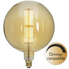 Buy your Industrial Vintage light bulb LED dimmable from Star Trading at Nordic Nest. Edison Lampe, Led Lampe, Led E14, Retro Vintage, Led Filament, Vintage Light Bulbs, Vintage Industrial Lighting, Luminous Flux, Amber Color