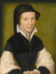 CORNEILLE DE LYON. Portrait of a Lady. c. 1560. Oil on panel. (Private collection)