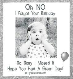 Missed Birthday