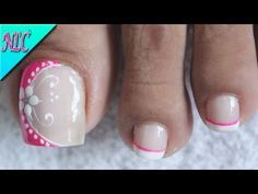 Pedicure Colors, Pedicure Designs, Pedicure Nail Art, Toe Nail Designs, Nail Colors, Purple Nail Designs, Flower Nail Designs, Simple Nail Art Designs, Nail Art Pieds