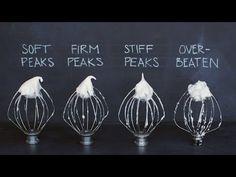 Whipping Egg Whites To Perfect Peaks #eggs #eggwhite #whippingeggs