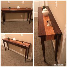 Cherry & Walnut Hallway Table : woodworking