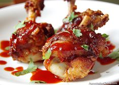 Chicken Lollipops - Recipe Included.  I had this at a party one time & they were AWESOME!!! A huge hit!!!