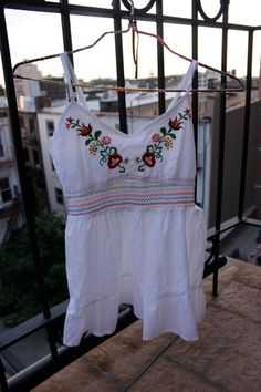 Re-fashion: Toddler dress from an adult blouse