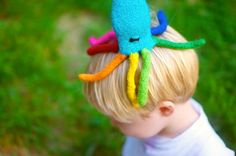 Rainbow Octopus Wool Felt Toy Tub Toy PuppetYou Pick by babus, $24.00