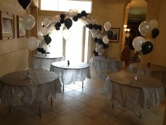 My parents surprise 25th wedding anniversary party set up