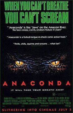 Official theatrical movie poster ( of for Anaconda Directed by Luis Llosa. Anaconda Movie, Eric Stoltz, Horror Monsters, Cant Breathe, Creature Feature, Horror Movies, Good Movies, Movies And Tv Shows, Movie Tv
