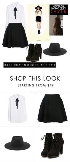 """Tassia Farmiga Halloween costume idea ahs coven"" by haleyngarcia ❤ liked on Polyvore featuring Coven, MANGO, Avelon and rag & bone"