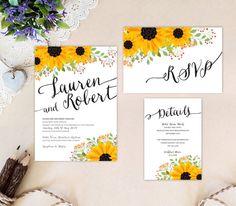 wedding invites rustic wedding invitations sunflower wedding invitation affordable wedding invitations