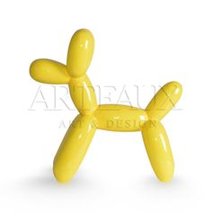 Balloon Animals 'Balloon Dog' Geel kunstobject AR-BA0004