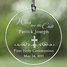 $16.95 Personalized ornament or suncatcher - baptism gift