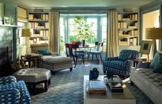 chaise - library  STEVEN GAMBREL | Mark D. Sikes: Chic People, Glamorous Places, Stylish Things