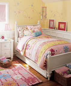 Brianna's little sister Violet's cozy little bedroom--where she spends too much time sick in bed
